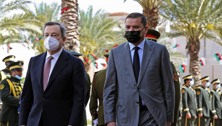 Mario Draghi en Libye